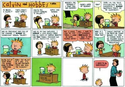 calvinhobbes financial crisis 400x279 Calvin & Hobbes über das Finanzsystem