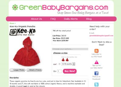 green baby bargains shop 400x287 Green Baby Bargains  Nachhaltiges Liveshopping für Babies