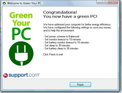 green your pc settings Green Your PC  Die Facebook Applikation zum Stromsparen