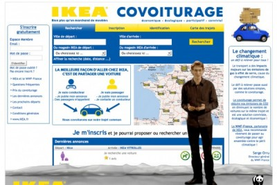 ikea covoiturage 400x267 IKEA Leko  Mitfahrzentrale für Frankreich