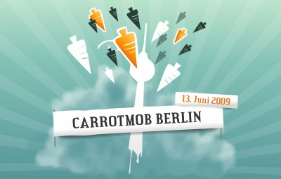 carrotmob picture carrots 400x255 Carrotmob Berlin  Buy Buy Boykott