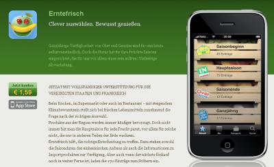 erntefrisch page 400x244 Erntefrisch  iPhone App als Saisonkalender für Obst und Gemüse