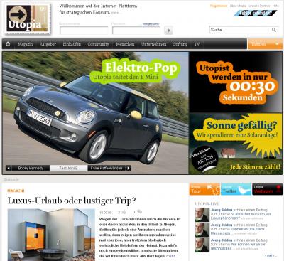 utopia 400x367 Utopia  Neuer Look und ein Interview