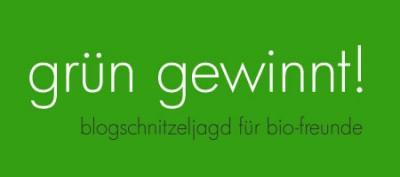 banner schnitzeljagd dunkel 400x177 Grün gewinnt!  Blogschnitzeljagd für Biofreunde